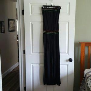 Casual strapless jumpsuit- pants